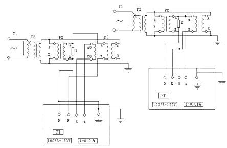 四,电压互感器自校接线图 八,电压互感器校电压互感器