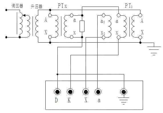 互感器校电压互感器接线图(高电位端测量接线方法)